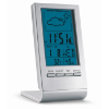 Weather station with blue LCD in silver
