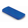 Container with plasters         in transparent-blue