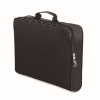 Conference bag with zipper in black