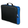 Conference bag with zipper in blue