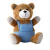 Bear plush w/ advertising pants in blue
