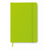 A5 notebook lined in lime