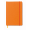 A5 notebook lined in orange