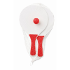 Small Beach tennis set in red