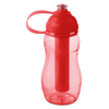 Bottle With Freezing Tube in transparent-red