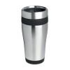 Stainless steel mug in black