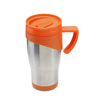 Stainless Steel Travel Mug in orange