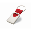 Heart metal key ring            in red