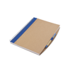 A4 Recycled Notebook With Pen in blue