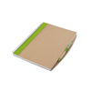 A4 Recycled Notebook With Pen in lime