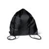 Drawstring backpack in black
