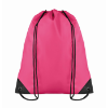 Drawstring backpack in fuchsia
