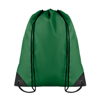 Drawstring backpack in green