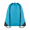 Drawstring backpack in turquoise