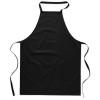 Kitchen apron in cotton         in black