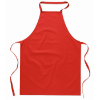 Kitchen apron in cotton         in red
