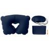 Set w/ pillow, eye mask, plugs in blue