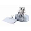 Magnetic clips with base        in matt-silver