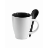 Mug with spoon in black