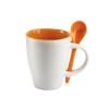 Mug with spoon in orange
