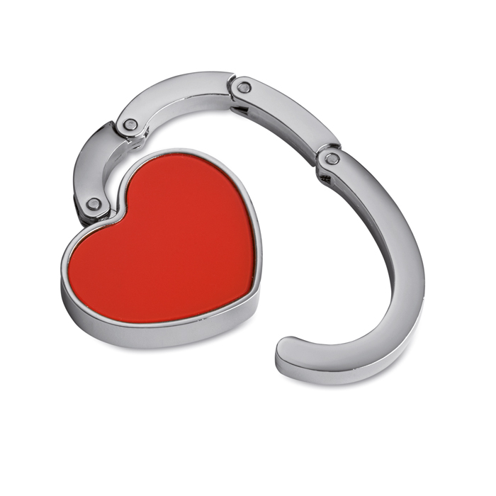 Bag Holder In Heart Shape in red