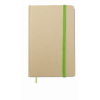 Recycled material notebook in lime