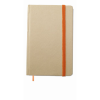 Recycled material notebook in orange