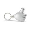 Thumb Led Torch Key Ring in matt-silver