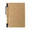 Memo note w/ mini recycled pen in black