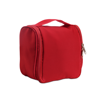 Cosmetic hanging bag in red