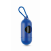 Container for pet bag w/ hook in blue