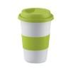 Ceramic mug w/ lid and sleeve in lime