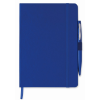 A5 notebook with pen in blue
