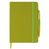 A5 notebook with pen in lime