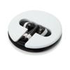 Earphones In Silicone Case in black