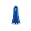 USB 2X car charger in blue