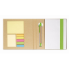 Notebook w/ sticky notes & pen in lime