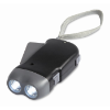 2 LED dynamo torch in black