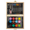 Painting set in wooden box in wood