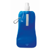 Foldable water bottle in transparent-blue