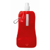 Foldable water bottle in transparent-red