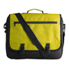 600D polyester document bag in lime