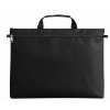 600D polyester document bag in black