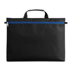 600D polyester document bag in blue