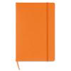 A5 block note w/ squared paper in orange