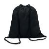 Cotton 100 gsm drawstring bag in black