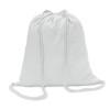 Cotton 100 gsm drawstring bag in white