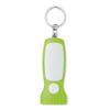 Key ring light in torch shape in lime