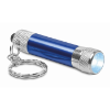 Aluminium torch with key ring in blue