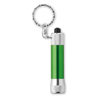 Aluminium torch with key ring in green